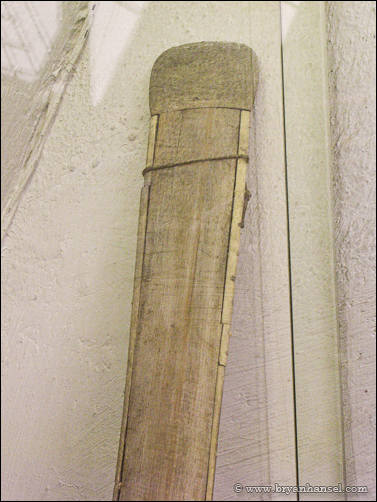 Tip of a Greenland paddle in Fram Museum.