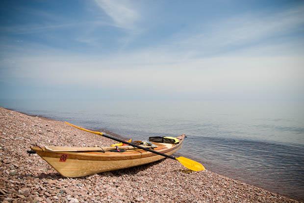 Siskiwit Bay sea kayak built from free kayak plans.