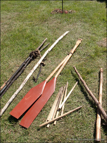 Canoe paddles at Grand Portage