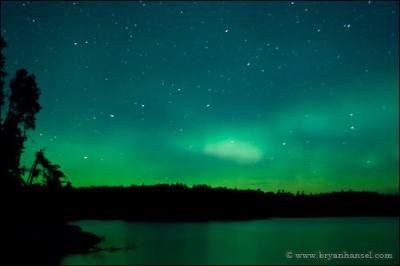 Northern Lights over the Boundary Waters.