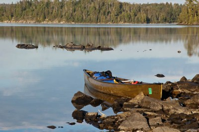 Canoe in the Boundary Waters Canoe Area.