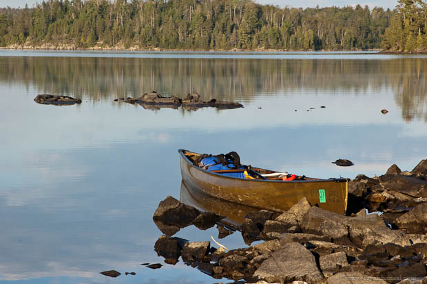 Canoe in the Boundary Waters Canoe Area.