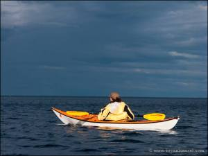 Kayaking on Lake Superior.