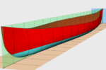 Malecite Racing Canoe from free plans.