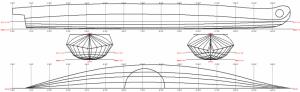 Lines plan of the Nunivak Island Kayak