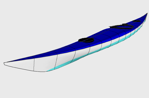Siskiwit LV sea kayak design