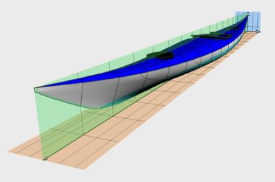 Siskiwit LV sea kayak wood strip plans
