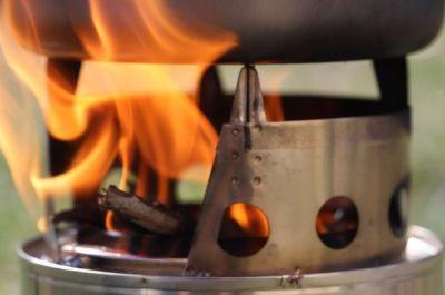 Bushbuddy Ultra Wood burning stove test