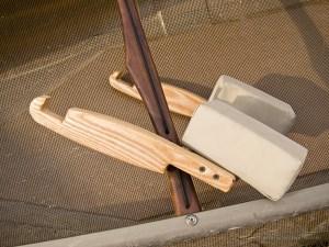 Assembled simple solo canoe yoke