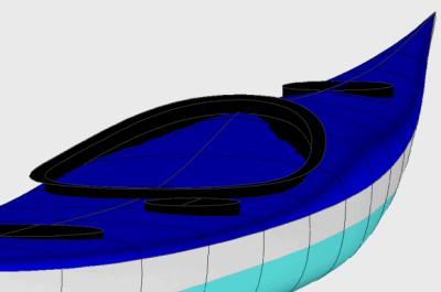 Cockpit on a kayak