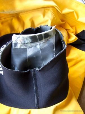 Tear Aid Repair on neck gasket