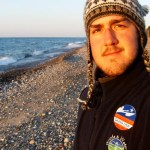 Tim Gallaway on a Lake Superior beach