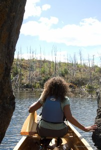 canoeing into the burnt Boundary Waters