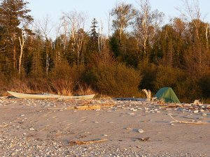 Kayak camping on the shipwreck coast