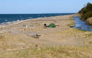 Kayak camping on Lake Superior