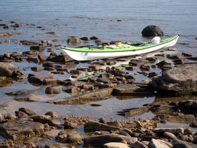 Lake Superior seiche and kayak