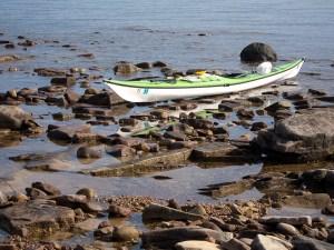Lake Superior seiche and kayak