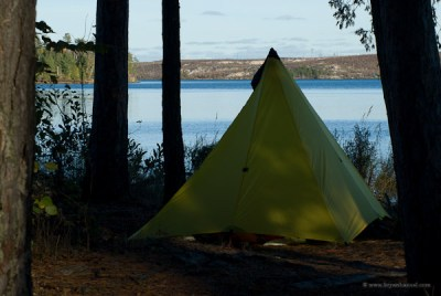 Typical campsite on the Boundary Waters Border Route
