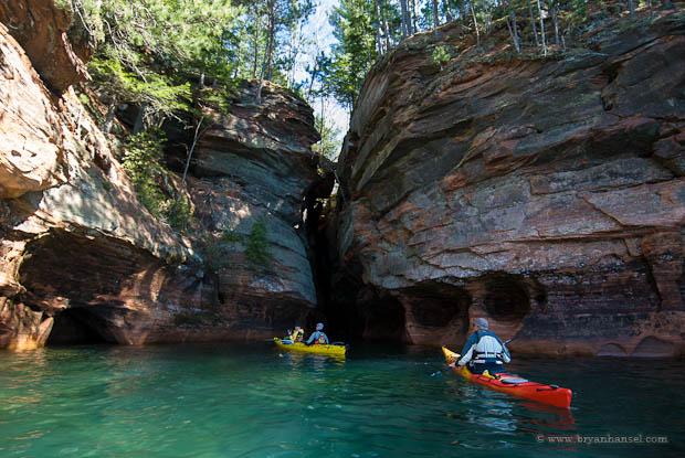 Sea Caves Kayak Tour Wisconsin