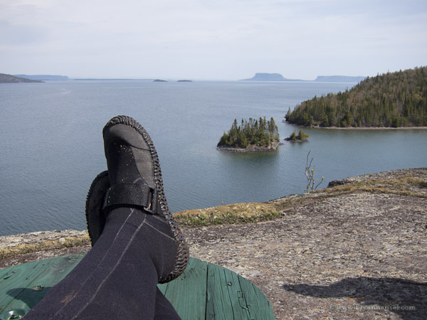Kicking back and enjoying the view from Spar Island