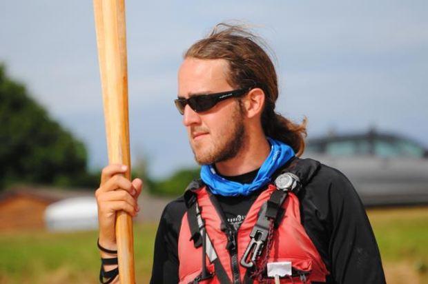 Tim Gallaway kayaking