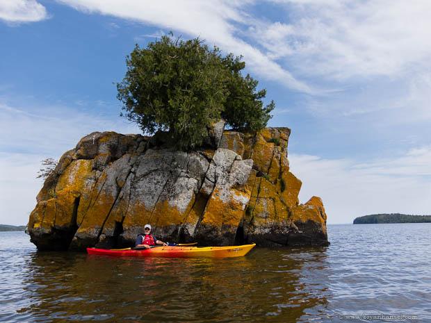 Boxcar Island in Pigeon Bay, Minnesota