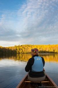Fall fishing on Kemo Lake