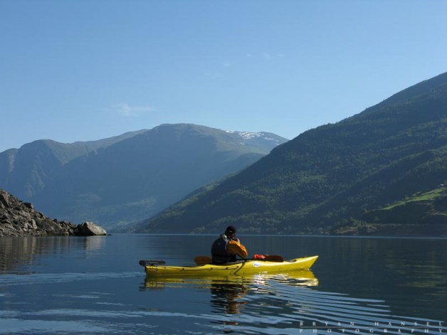Kayaking the fjords.