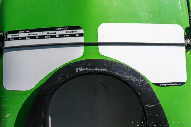 kayak deck slates on a NDK Explorer