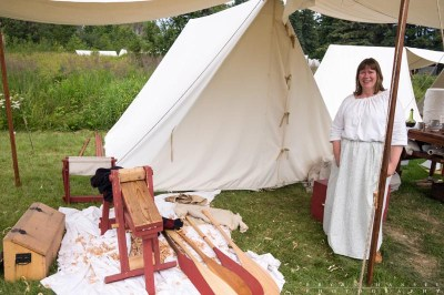 recreation of a fur trade tent