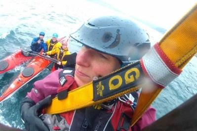 rescuing a hurt sea kayaker