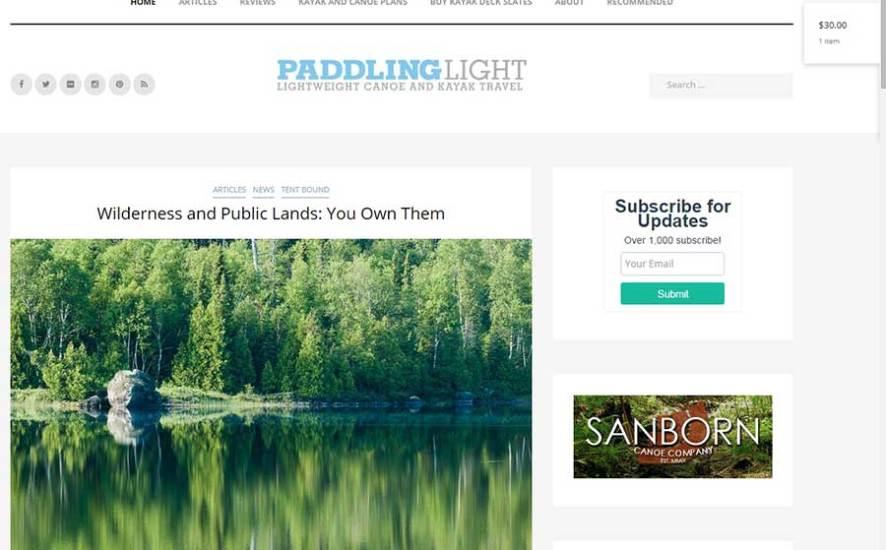 New web design for PaddlingLight