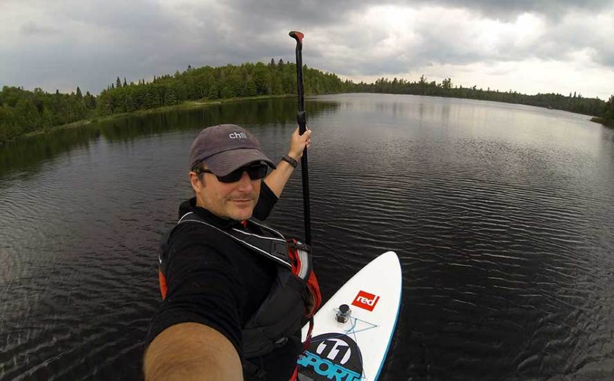Red Paddle Co 11' Sport SUP cruising near the BWCA
