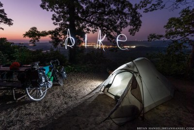 bike camping in Wisconsin