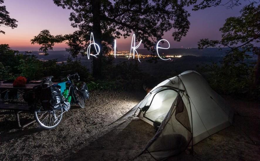bike camping in Wisconsin