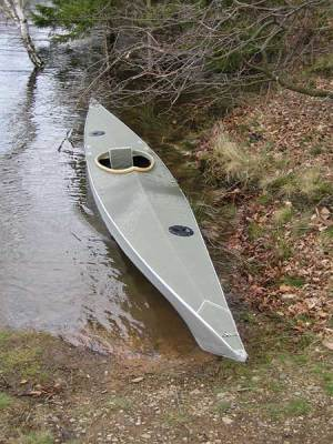 walrus folding kayak on the water