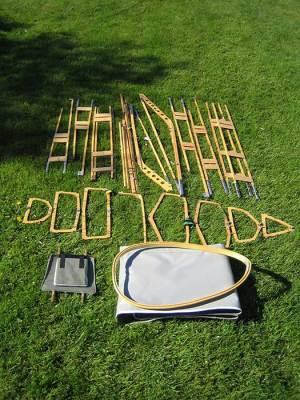 homemade folding kayak parts