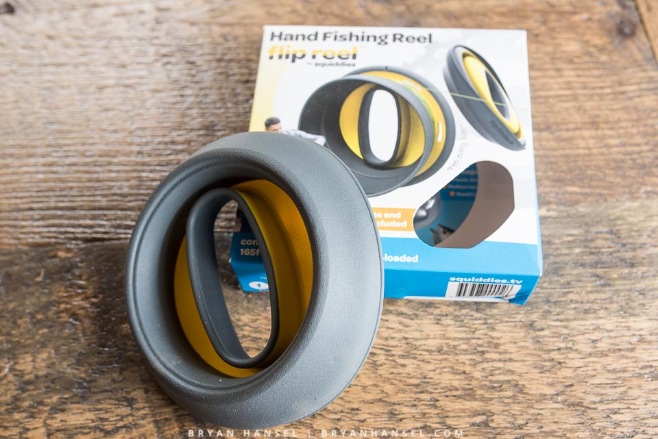 First look flip reel a fishing handline for kayaking for Handline fishing reel