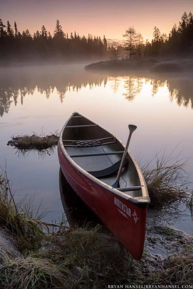 Northstar Phoenix canoe at sunrise