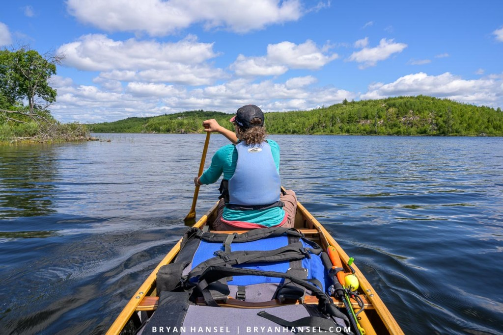 canoeing on the Sag to Seagull route
