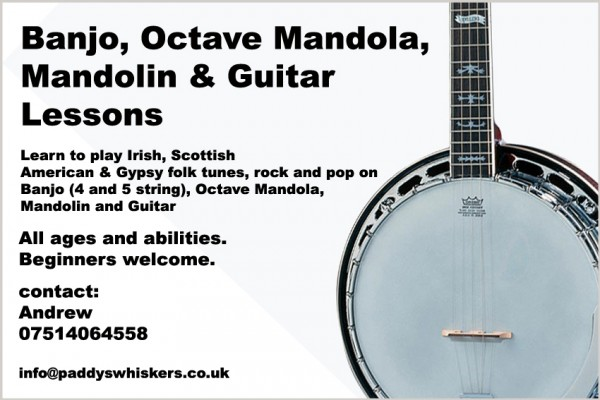 Learn to play Irish, Scottish, American and Gypsy Tunes on banjo, mandolin, octave mandola and guitar