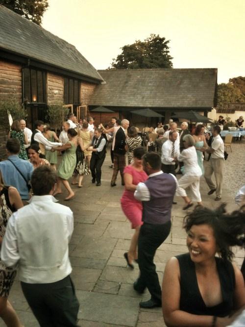 Ceilidh Dancing at The Corn Barn, Cullompton, Devon