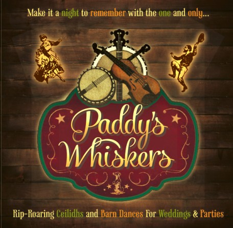 Paddy's Whiskers Ceilidh Barn Dance Brochure Front Page