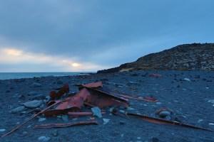 Trawler wreckage at Djúpalón