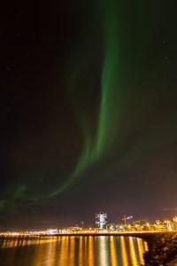Aurora, Sea front Reykjavik