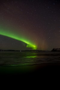 Northern Lights across the Lake at þingvellir