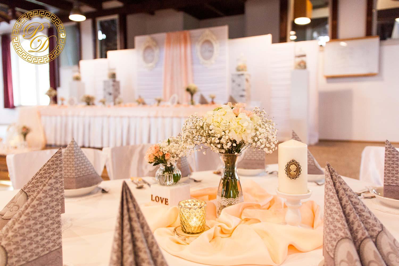 Hochzeitsdeko Apricot  Hochzeitsdeko aus Paderborn