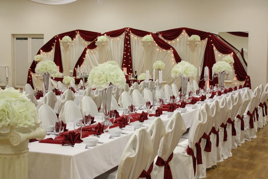 Hochzeitsdeko Bordeaux Amp Rot