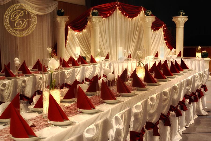 Hochzeitsdekoration in neuem Licht