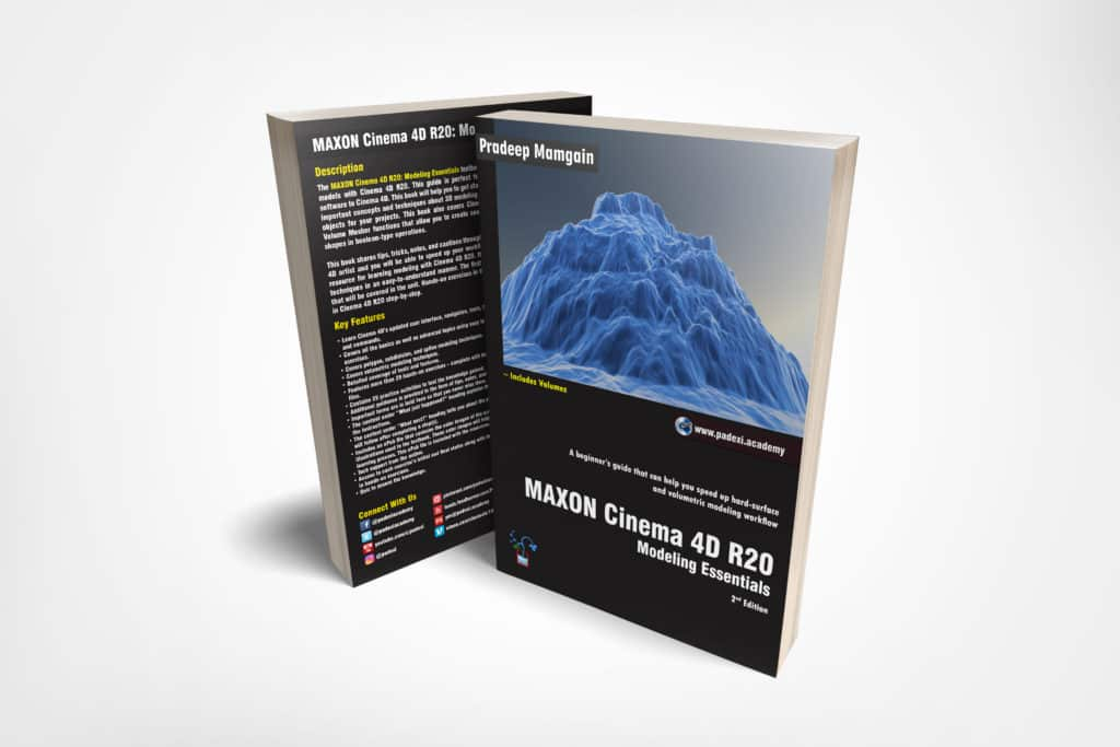 Book - MAXON Cinema 4D R20: Modeling Essentials - PADEXI Academy